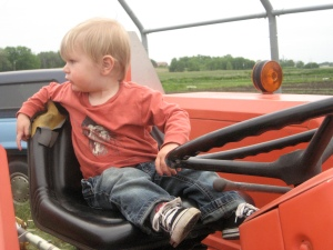 backing up the tractor at groundswell farm