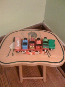 "Reuben gave his trains a ""time out"" the other day. When I asked why he replied ""they threw them off the track."""