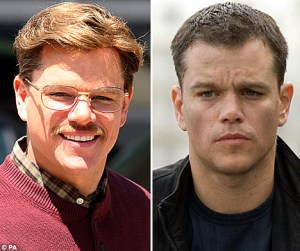 "Matt Damon transforms from chic Jason Bourne to dorky Mark Whitacre in ""the Informant"""