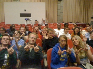 whatever? no! W is for wonderful wayne state students! Yes- I totally took this picture during my talk.