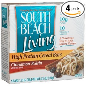 I've really liked the Cinnamon Raisin flavor! It's important to get a bar that has enough protein or fiber to stay full. These have 19 grams of protein and are low carb.