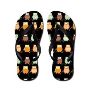 trendy_owl_flip_flops